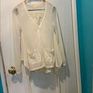 a'reve lace/ see though top